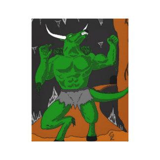 Minotaurの緑のキャンバス キャンバスプリント