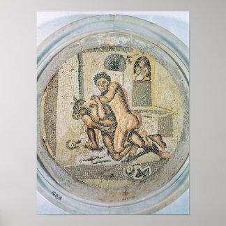 MinotaurのTheseusのレスリング ポスター