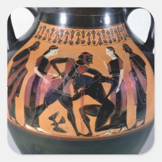Minotaurを戦うTheseus スクエアシール
