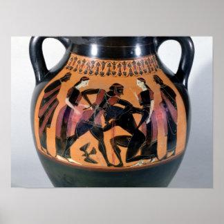 Minotaurを戦うTheseus ポスター
