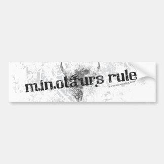 Minotaursの規則のバンパーステッカー バンパーステッカー