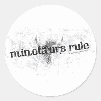 Minotaursの規則-ステッカー ラウンドシール