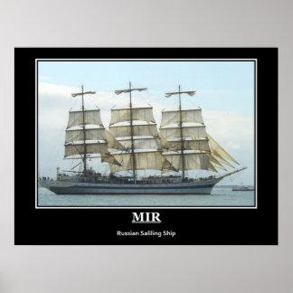 Mirのロシアのな訓練の帆船のヴィンテージポスター ポスター