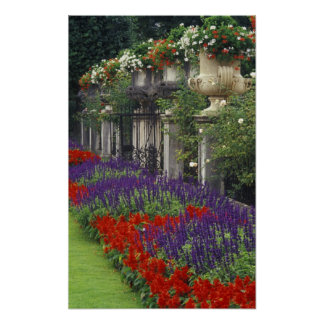 Mirabell宮殿、ザルツブルク、オーストリアの庭 ポスター