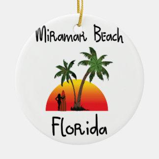 Miramarのビーチフロリダ セラミックオーナメント