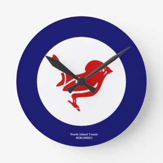 MIROMIROニュージーランドの鳥の時計N.I. Tomtit ラウンド壁時計