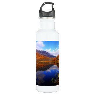 mirror湖の秋の景色の反射水秋 ウォーターボトル