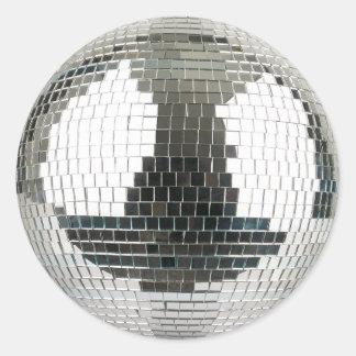 Mirrorballのディスコの球 ラウンドシール