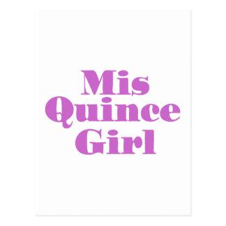 Misのマルメロの女の子 ポストカード