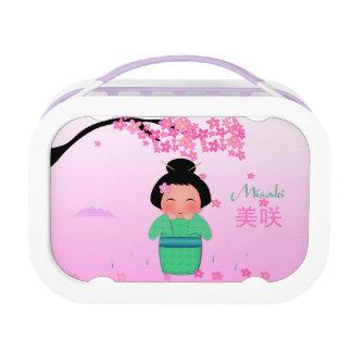 Misakiの紫色のyuboのお弁当箱 ランチボックス