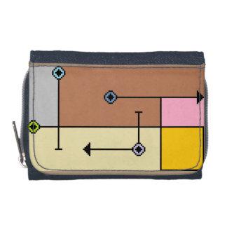 MisdirEction™のデニムの財布w/Coinの財布 ウォレット