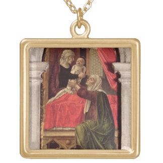 Misericordiaのマドンナ、1473年のトリプティク ゴールドプレートネックレス
