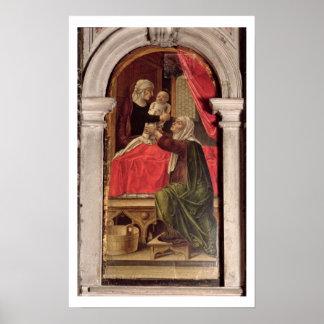 Misericordiaのマドンナ、1473年のトリプティク ポスター