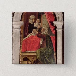 Misericordiaのマドンナ、1473年のトリプティク 5.1cm 正方形バッジ