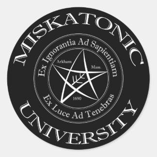 Miskatonic大学ステッカー ラウンドシール