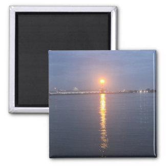 Mississipiの川の日の出の磁石 マグネット