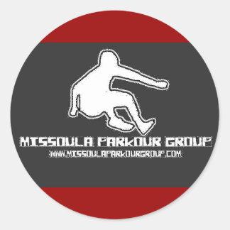 Missoula Parkourのグループのロゴの変化 ラウンドシール