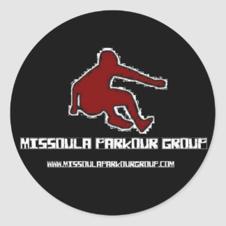 Missoula Parkourのグループのロゴ ラウンドシール