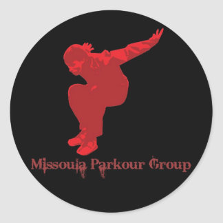 Missoula ParkourのグループのKongのステッカー ラウンドシール