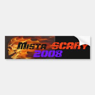 Mistaの恐く燃えるようなスカル2008年の車のバンパーステッカー バンパーステッカー