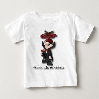 mistletoe1の下で私に会って下さい ベビーTシャツ