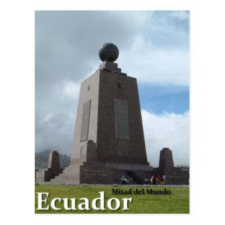 Mitad del Mundoエクアドル赤道ライン記念碑 ポストカード