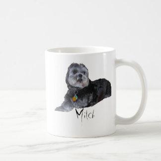 Mitch 3脚のシーズー(犬)のTzuのマグ コーヒーマグカップ