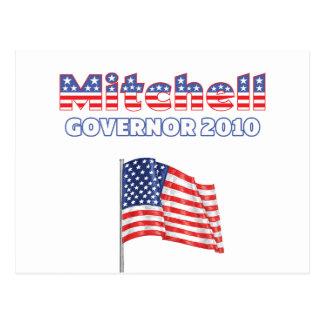 Mitchellの愛国心が強い米国旗2010の選挙 ポストカード