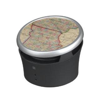 Mitchell著アイオワ、ミズーリの地図 ワイヤレス スピーカー
