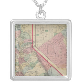 Mitchell著カリフォルニア、サンフランシスコ地図 シルバープレートネックレス