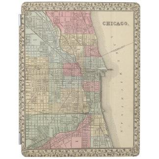Mitchell著シカゴの地図 iPadスマートカバー