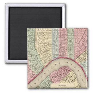 Mitchell著ニュー・オーリンズの地図 マグネット