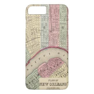 Mitchell著ニュー・オーリンズの地図 iPhone 8 Plus/7 Plusケース