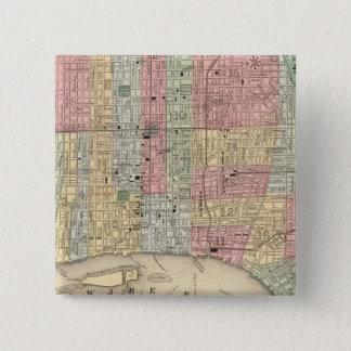 Mitchell著フィラデルヒィアの地図 5.1cm 正方形バッジ