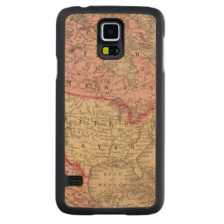 Mitchell著北アメリカの地図 CarvedメープルGalaxy S5スリムケース