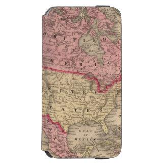 Mitchell著北アメリカの地図 Incipio Watson™ iPhone 6 財布ケース
