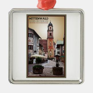 Mittenwald -セントピーターおよびポール教会 メタルオーナメント