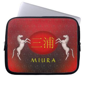 Miuraのモノグラムの馬 ラップトップスリーブ