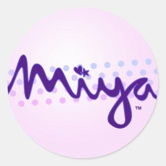 Miyaのレトロのグラフィック ラウンドシール