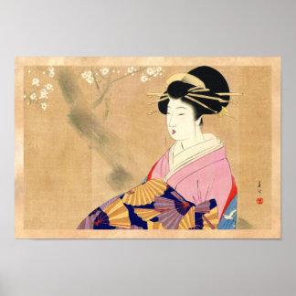 Miyagawa Shuntei Oiranの日本のukiyo-eの芸術 ポスター