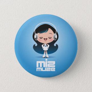 Miz Muzeボタン 5.7cm 丸型バッジ