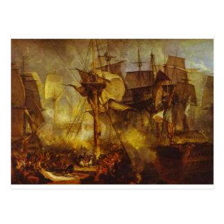 Mizenから見られるトラファルガー海戦、 ポストカード