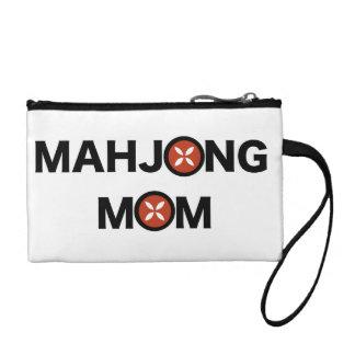MJの花のデザインと取り替えられるMahjongのお母さんO コインパース