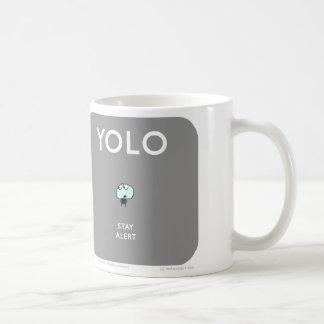 """MJ1574 """"Mahoneyジョーか。 YOLOの滞在警報 コーヒーマグカップ"""