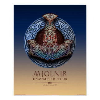 "Mjolnir -トールのハンマーポスター(16x20"") ポスター"