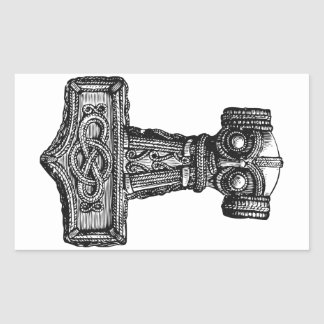 Mjolnir: トールのハンマー 長方形シール