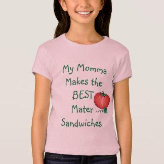MJWCの女の子のMaterサンドイッチワイシャツ Tシャツ
