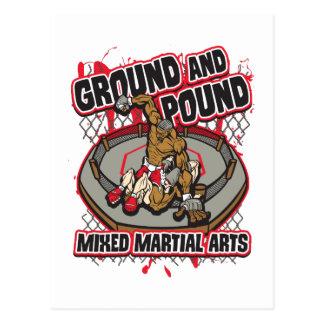 MMAの地面およびポンド ポストカード