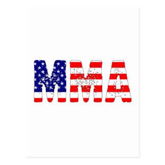 MMA米国の旗 ポストカード