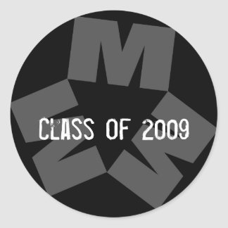 MMMラップトップのステッカー、2009年のクラス ラウンドシール